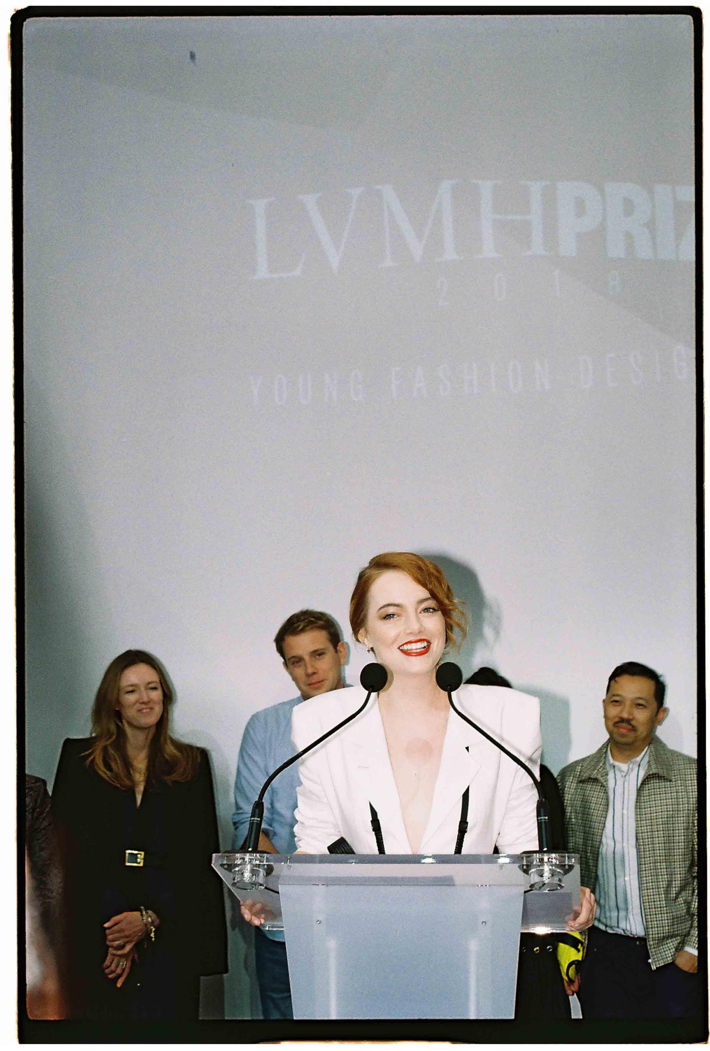 Emma Stone, Clare Waight Keller, Jonathan Anderson et Humberto Leon