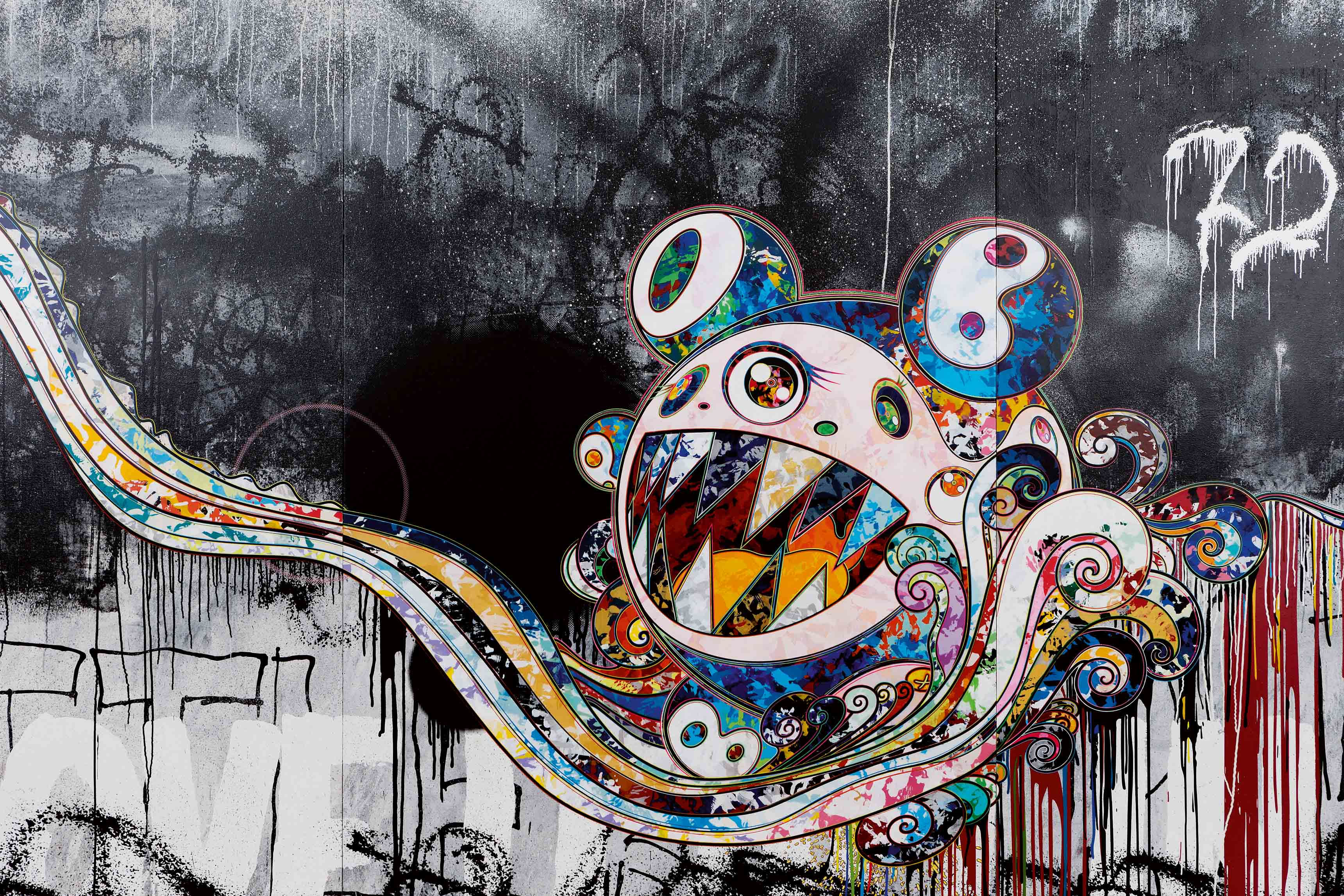 Takashi Murakami, Fondation Louis Vuitton, Paris.
