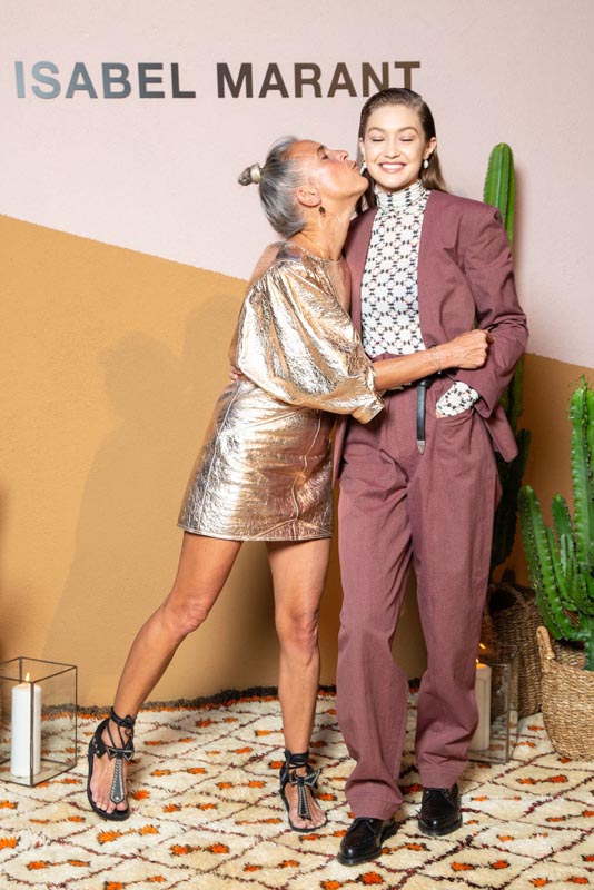 Isabel Marant et Gigi Hadid