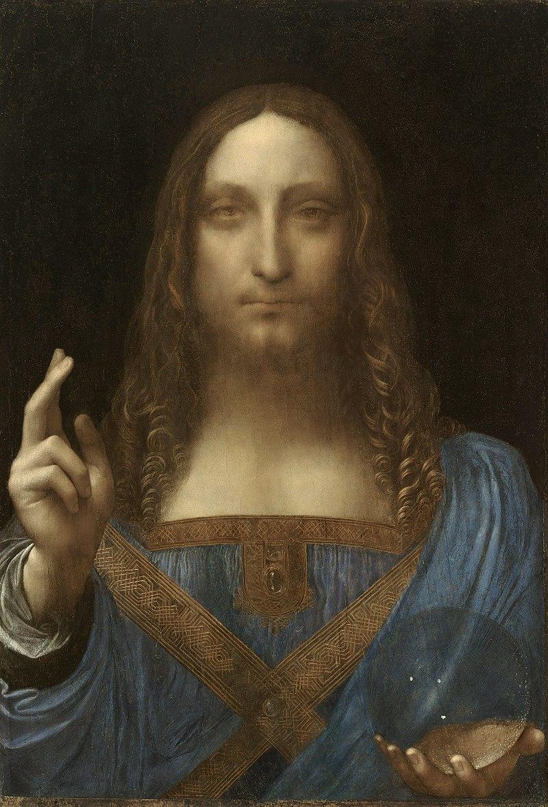 "1) ""Salvator Mundi"" (1500) de Leonard de Vinci, adjugé 450,3 millions de dollars en novembre 2017 chez Christie's à New York."