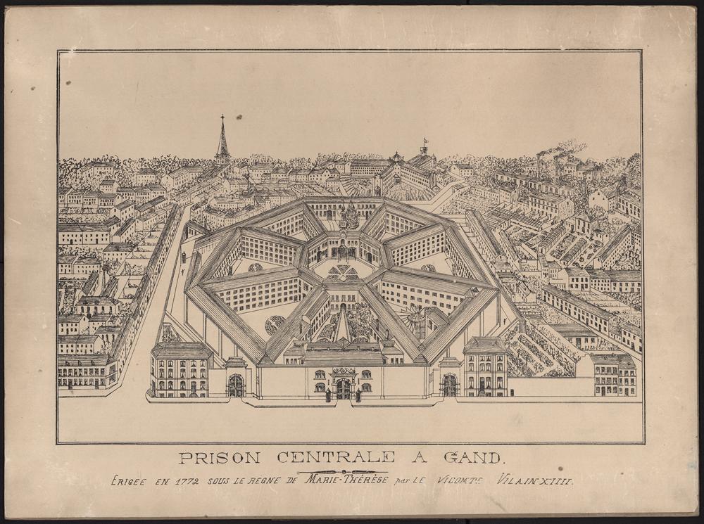 Prison centrale à Gand, Belgique, construite en 1780, Archives de la ville de Gand