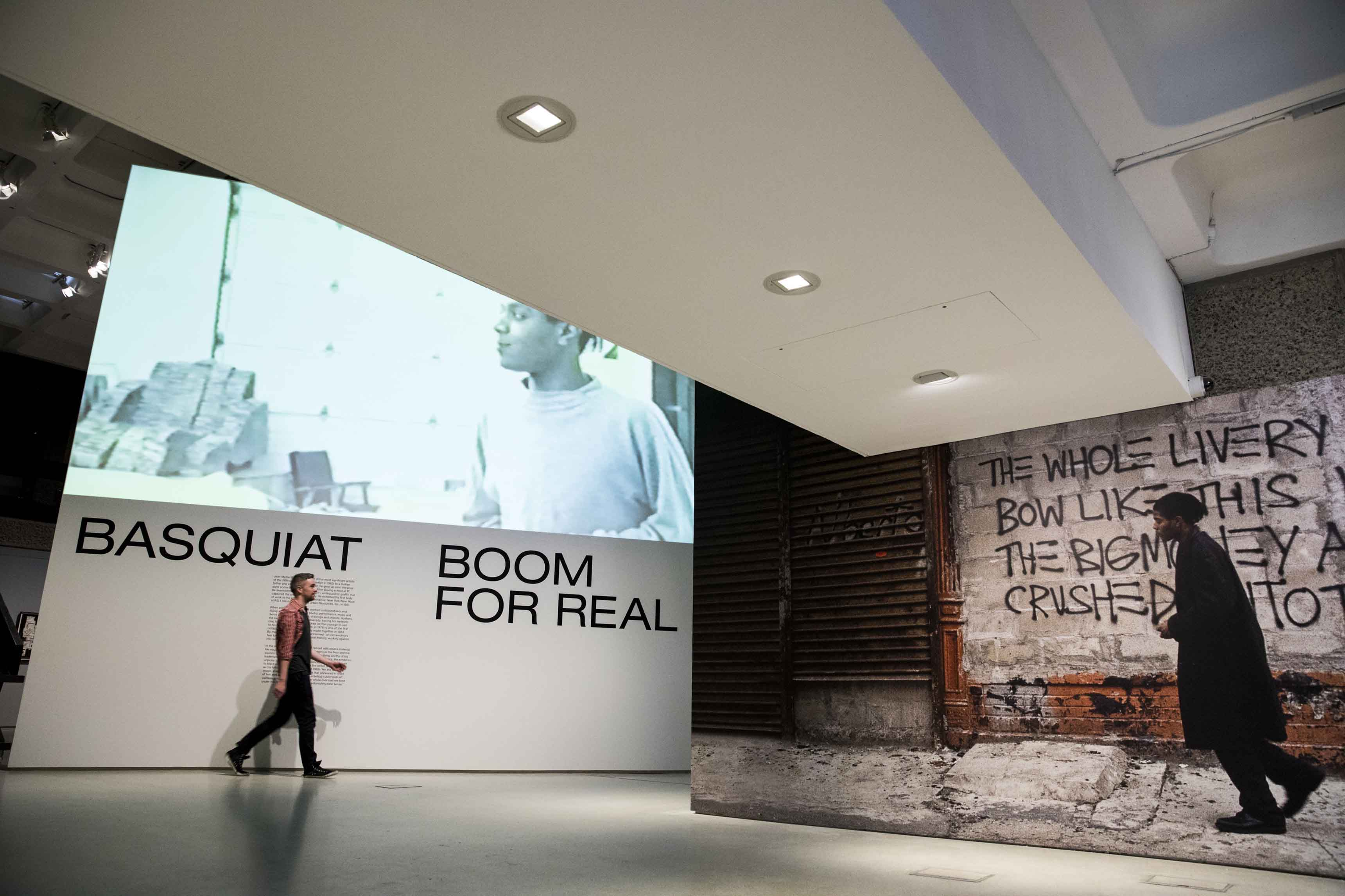 Basquiat: Boom For Real Installation view Barbican Art Gallery 21 September 2017 – 28 January 2018 © Tristan Fewings / Getty Images Artworks: © The Estate of Jean-Michel Basquiat. Licensed by Artestar.
