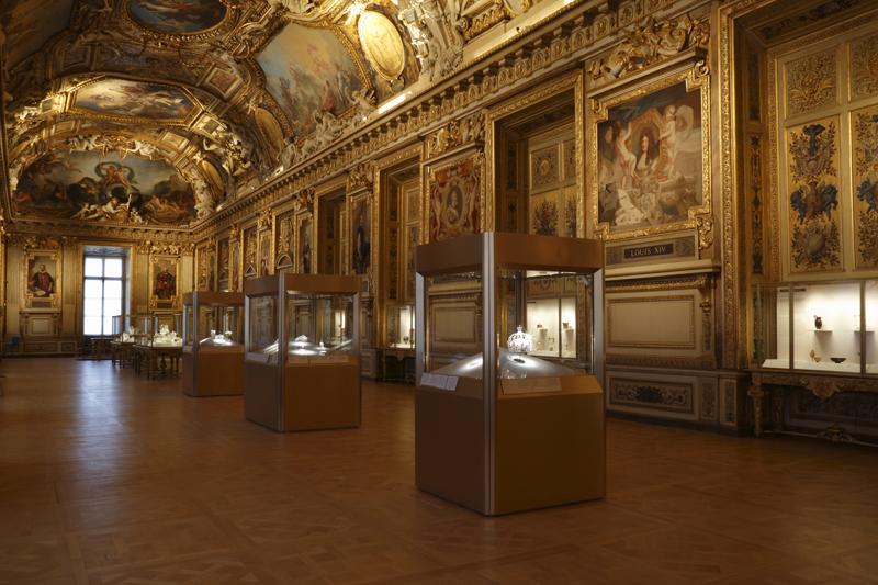 Vue de la galerie d'Apollon © 2020 Musée du Louvre / Antoine Mongodin