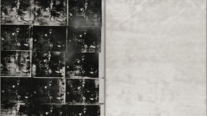 """11) """"Silver Car Crash"""" (1963) d'Andy Warhol, vendu à 105,445 millions de dollars en novembre 2013."""