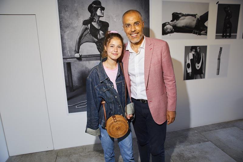 Kamel Mennour et sa fille Jade