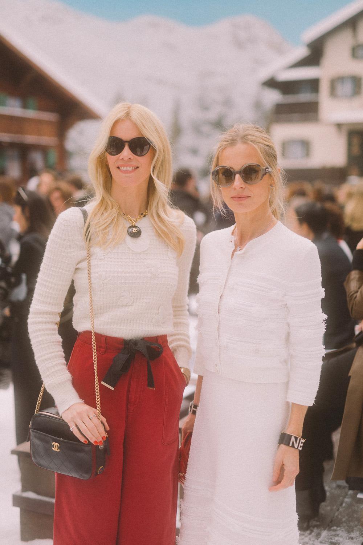 Claudia Schiffer et Laura Bailey