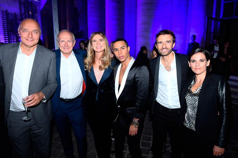 Pascal Morand, Jean-Paul Agon, Sophie Agon, Olivier Rousteing, Pierre-Emannuel et Francesca Angeloglou