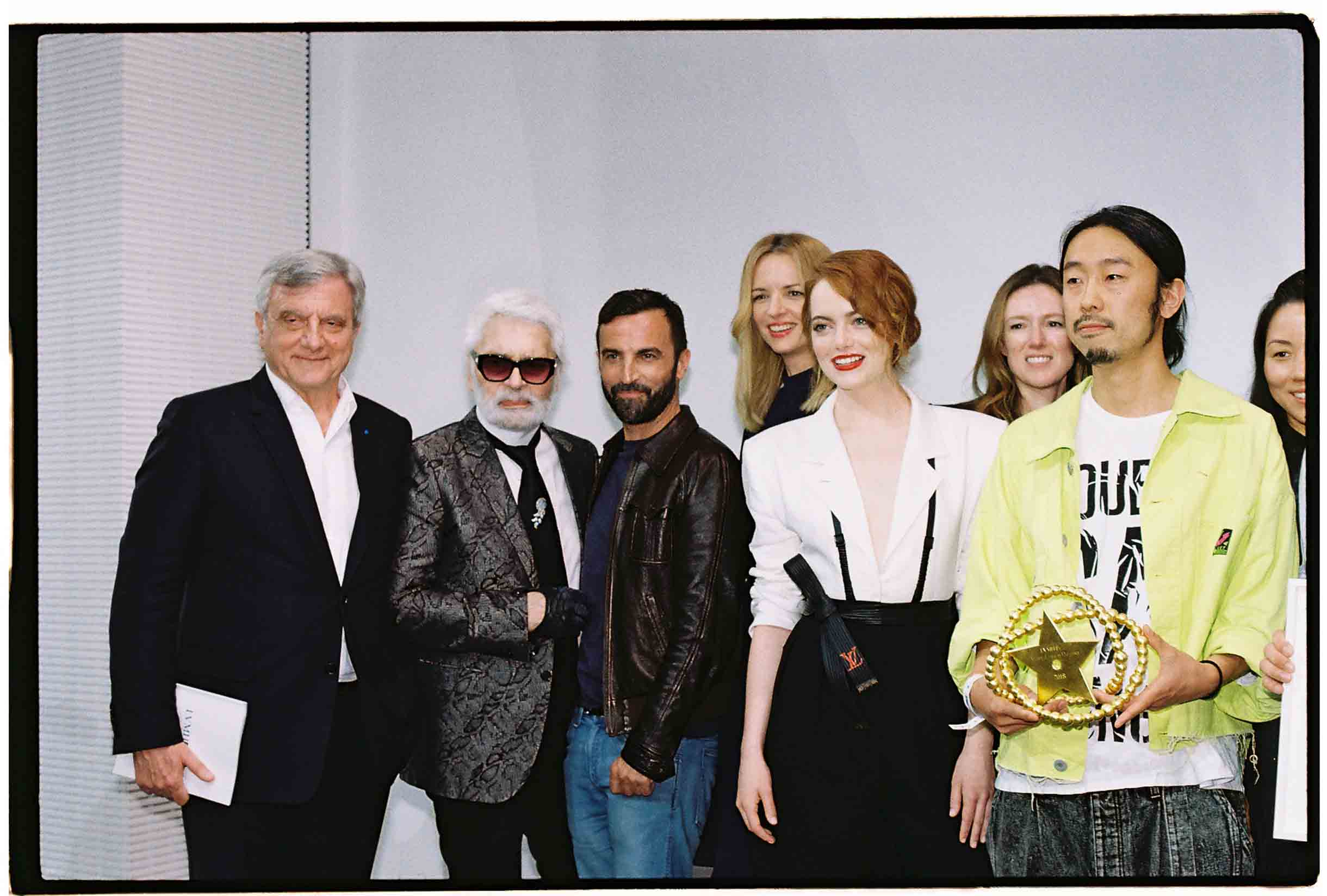 Sidney Toledano, Karl Lagerfeld, Nicolas Ghesquière, Delphine Arnault, Emma Stone, Clare Waight Keller, Masayuki Ino, Carol Lim