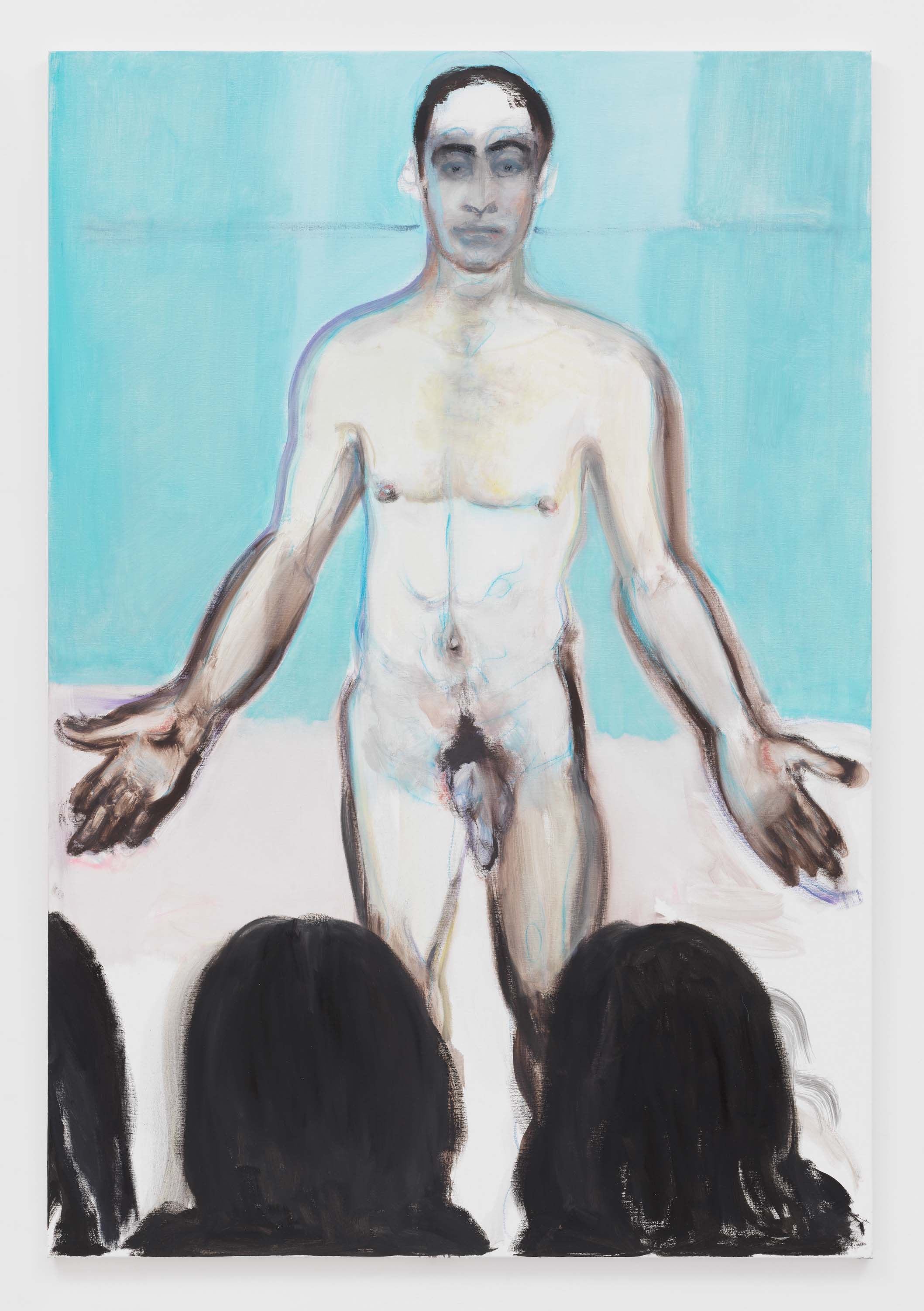 "Marlene Dumas, 2017, Oil on canvas. Exposition ""Myths & Mortals"", Galerie David Zwirner, New-York"
