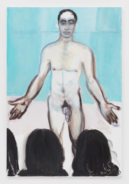 "Marlene Dumas, 2017, Oil on canvas. Exposition ""Myths & Mortals"", Galerie David Zwirner, New-York"