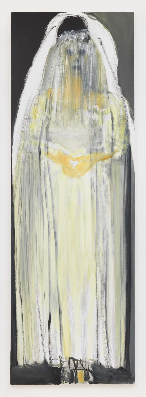 "Marlene Dumas, 2017, Oil on canvas, 118 1/8 x 39 3/8 inches 300 x 100 cm. Exposition ""Myths & Mortals"", Galerie David Zwirner, New-York"