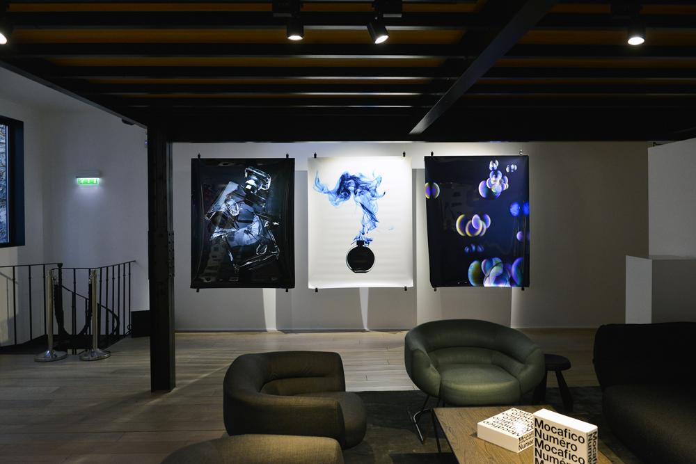 Vue de l'exposition Mocafico x Numéro au Studio des Acacias