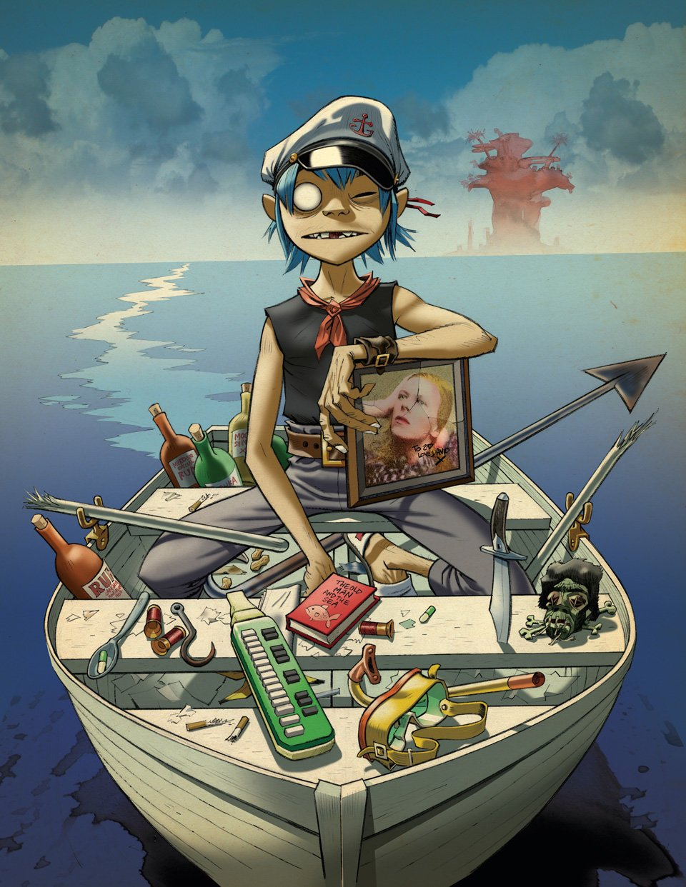 Page 169 The Young Fool and the Sea, 2010 Album artwork for Gorillaz' Plastic Beach. Copyright: © Jamie Hewlett