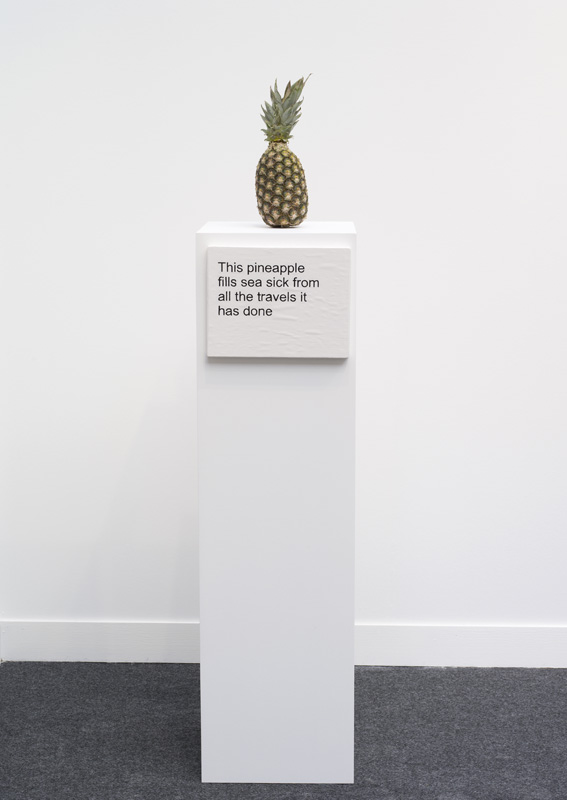 Laure Prouvost This pineapple fills sea sick from all the travels it has done 2016
