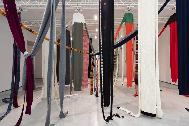 Incredible installation at the middle of the exhibition. @Lewis Ronald