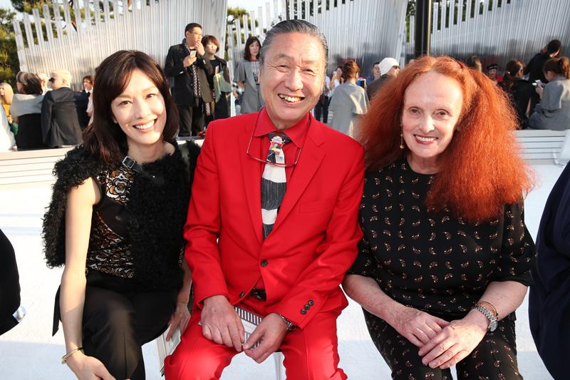 Mirai Yamamoto, Kansai Yamamoto et Grace Coddington