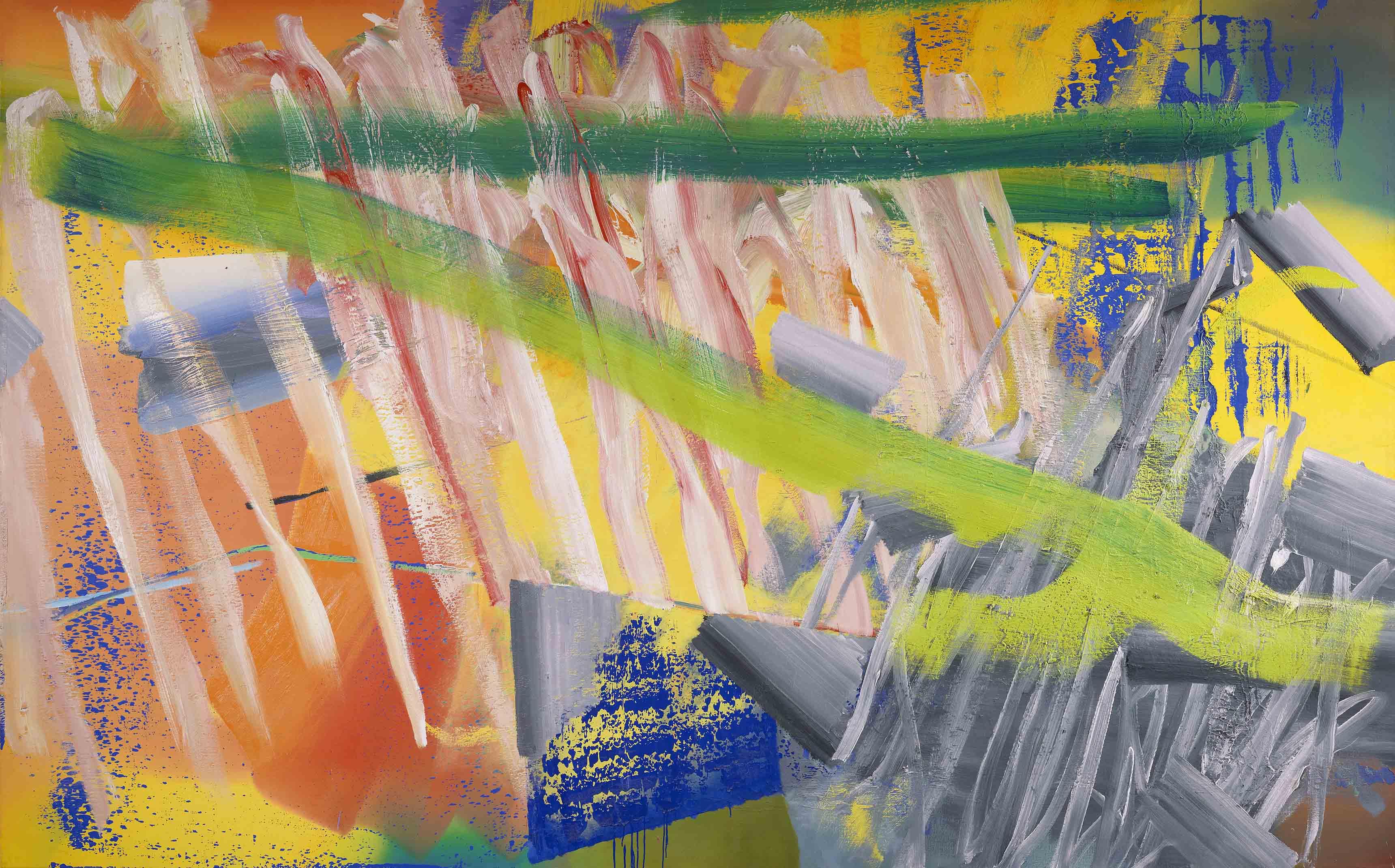 Gruner Strich (green stroke), Gerhard Richter, (1982)