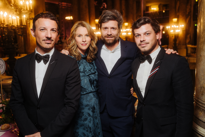 Nicolas Ouchenir, Anne-Sophie Dirand, Joseph Dirand et Hugo Matha.  ©Virgile Guinard