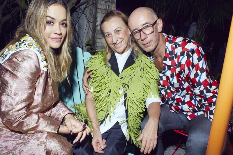 Rita Ora, Miuccia Prada et Carsten Höller