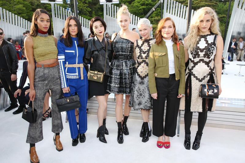 Laura Harrier, Jennifer Connely, Fan Bing Bing, Sophie Turner, Michelle Williams, Isabelle Huppert et Riley Keough