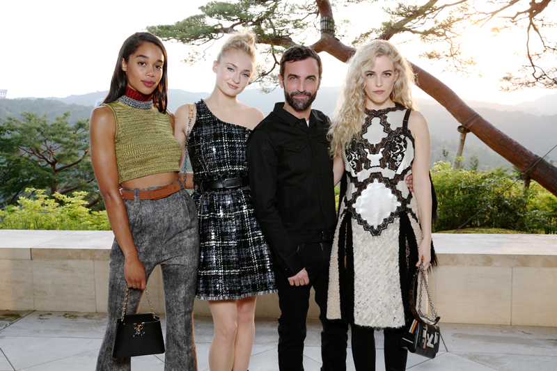 Laura Harrier, Sophie Turner, Nicolas Ghesquière et Riley Keough