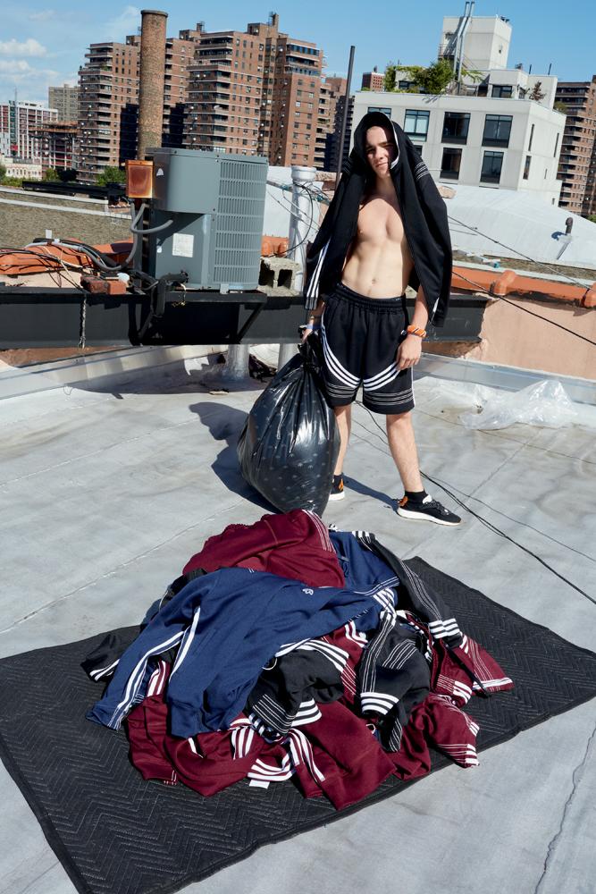 Rocco Ritchie en Adidas Originals par Alexander Wang, photographié par Juergen Teller.