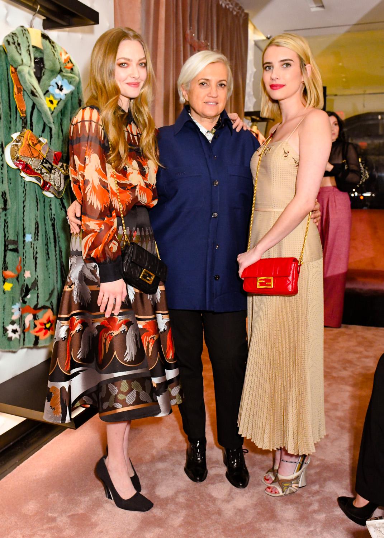Amanda Seyfried, Silvia Venturini Fendi et Emma Roberts