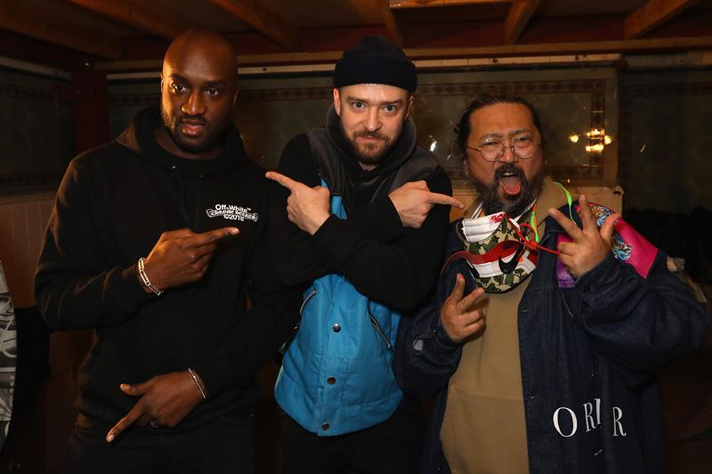 Virgil Abloh, Justin Timberlake et Takashi Murakami