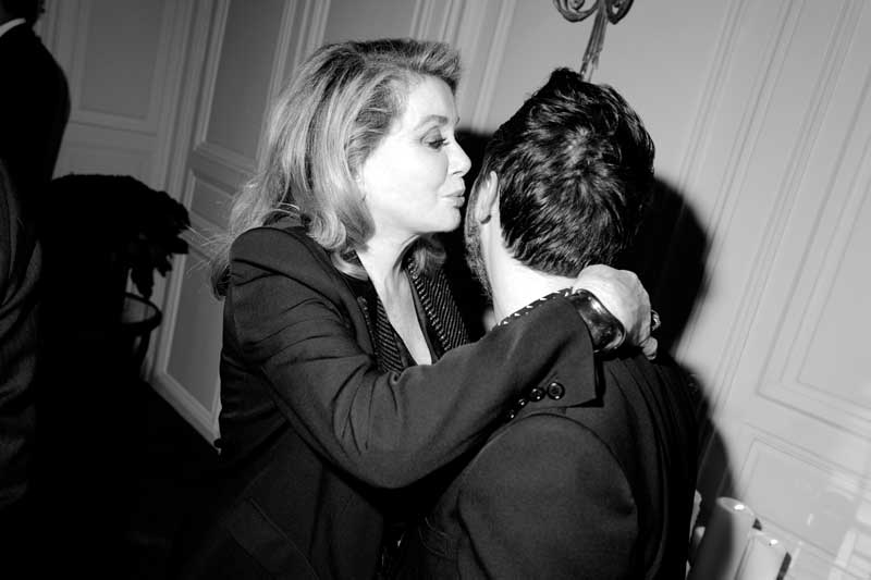 Catherine Deneuve et Anthony Vaccarello