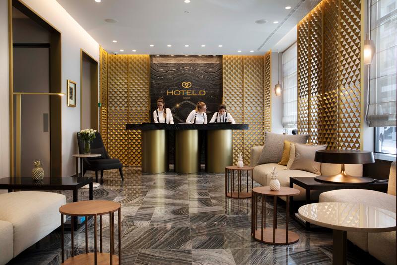 Le lobby de l'Hôtel D Geneva