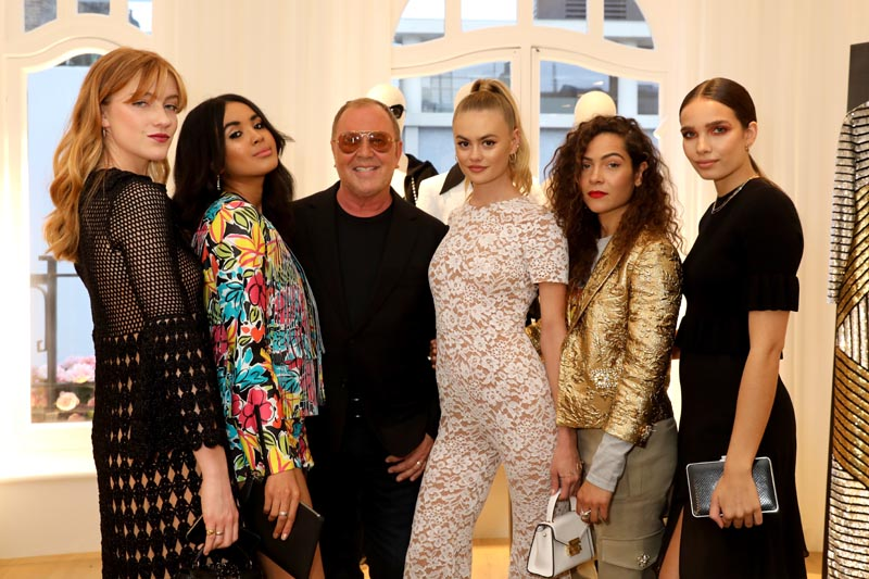Connie Burrell, Aziya Aldridge Moore, Michael Kors, Ella Ross, Lily Bertrand Webb, Hana Cross