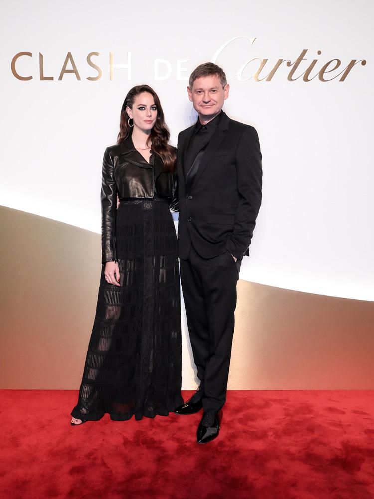 Kaya Scodelario, nouvelle égérie de la maison et Cyrille Vigneron, PDG de Cartier
