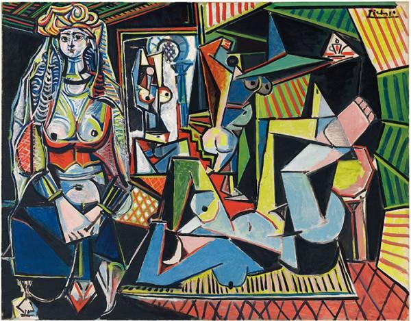 """2) """"Les Femmes d'Alger (version O)"""" (1955) de Pablo Picasso, adjugé 179,365 millions de dollars chez Christie's à New York."""
