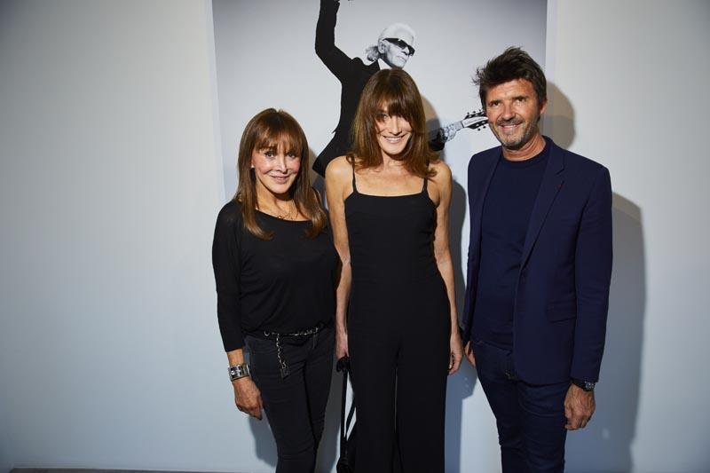 Babeth Djian, Carla Bruni et Paul-Emmanuel Reiffers