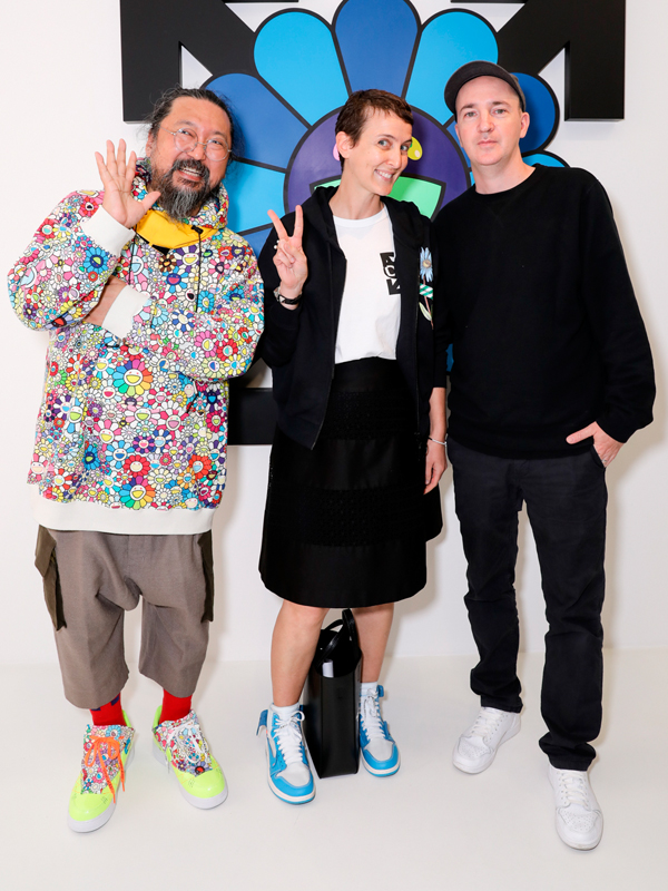 Takashi Murakami, Sarah Andelman et Brian Donnelly (Kaws)