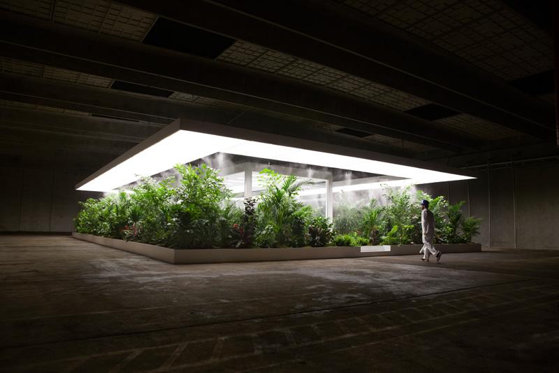 Installation rendering of Doug Aitken, The Garden 2017. Rendering by Doug Aitken Workshop. Courtesy the Artist and ARoS Aarhus Kunstmuseum.