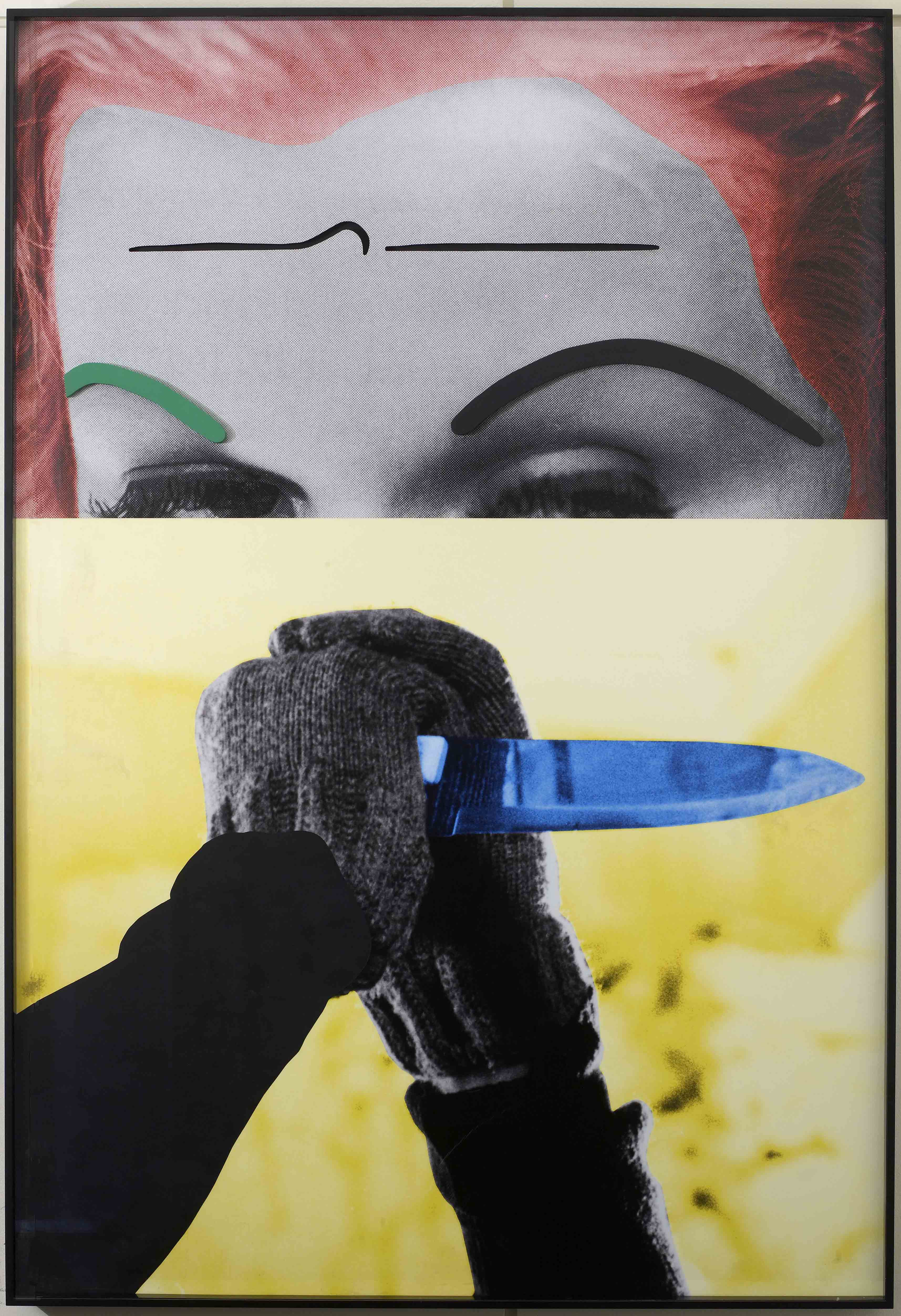 Raised Eyebrows Furrowed Foreheads Knife (With Hands), John Baldessari  (2009)