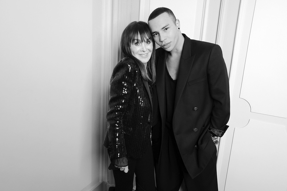Babeth Djian et Olivier Rousteing
