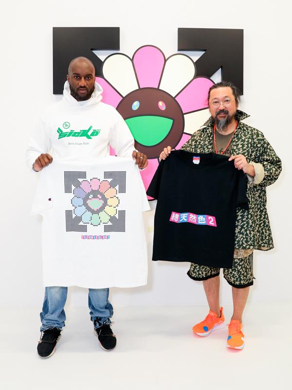 Virgil Abloh et Takashi Murakami
