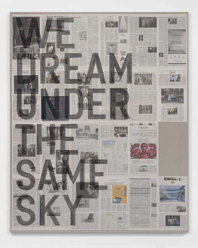 Rirkrit Tiravanija untitled 2017 (we dream under the same sky, new york times, january 26, 2017) 2017