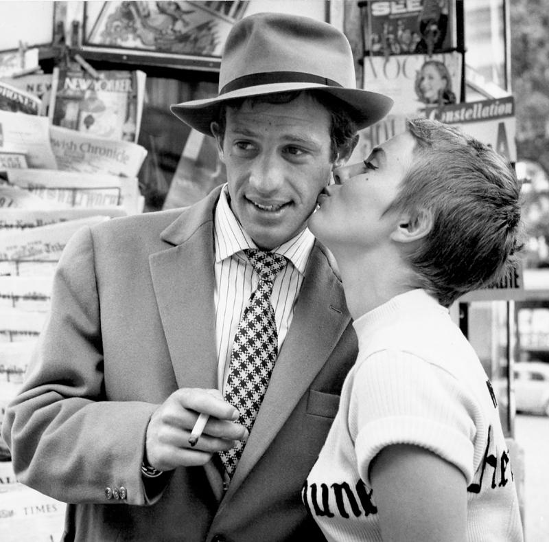 Jean-Paul Belmondo et Jean Seberg, 1959  « À bout de souffle » de Jean-Luc Godard ©Raymond Cauchetier