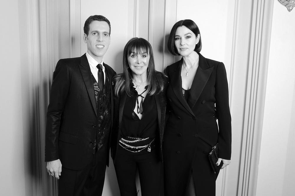 Tom Wolfe, Babeth Djian et Monica Bellucci