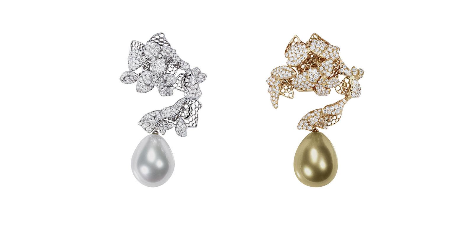 "Boucles d'oreilles ""Dentelle Organza"", Dior Joaillerie."