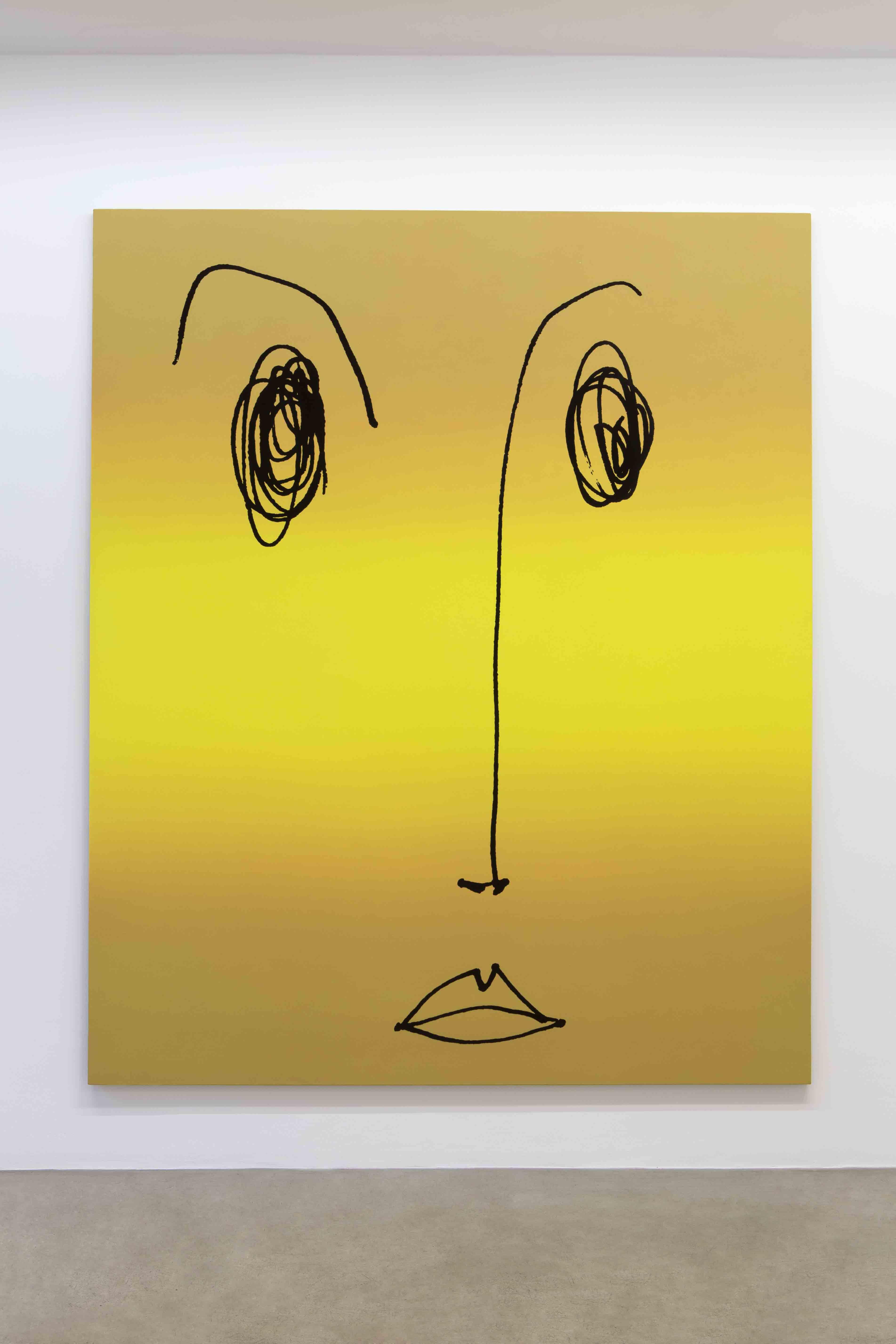 """""""Mary"""" (2012) de Rob Pruitt. Acrylique, émail et flocage sur toile, 274,5 x 226,5 x 3,5 cm. Acrylic, enamel paint and flocking on canvas. Donation : Jean-Lou et/and Sophie Tepper © Rob Pruitt Courtesy of the artist"""