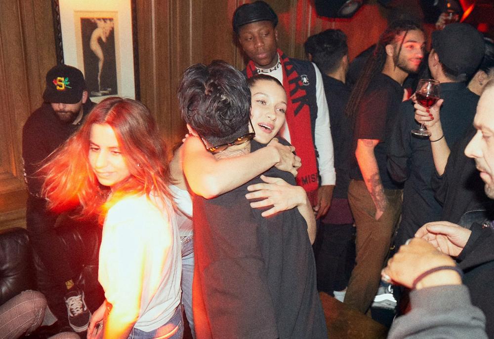 G-Dragon and Bella Hadid.
