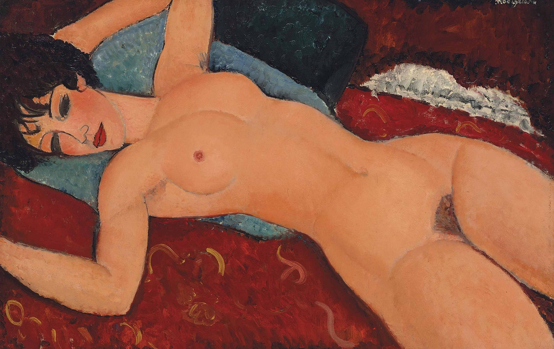 "3) ""Nu couché"" (1917-1918) d'Amadeo Modigliani, adjugé 170,405 millions de dollars chez Christie's à New York en mai 2015."