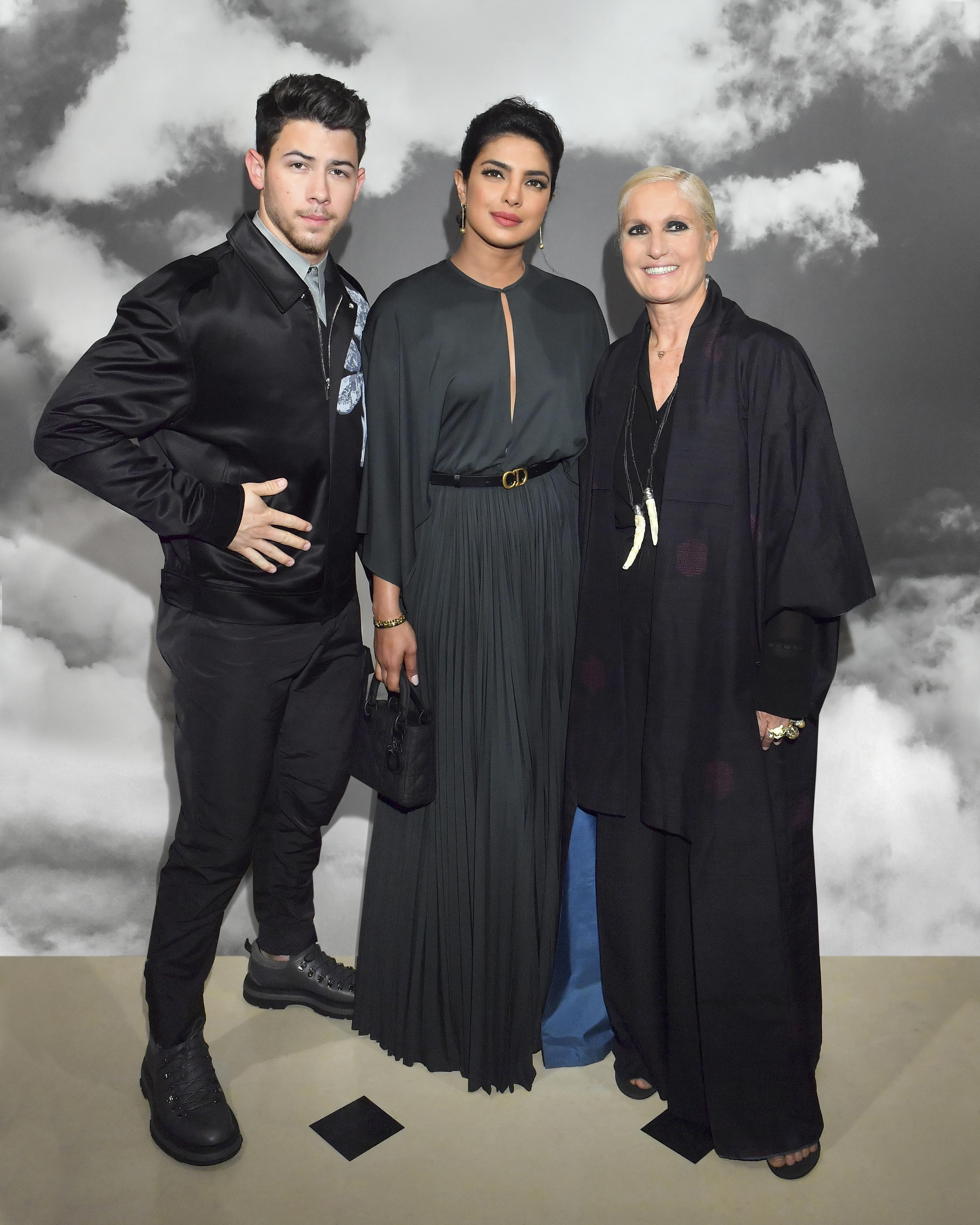 Nick Jonas, Priyanka Chopra et Maria Grazia Chiuri