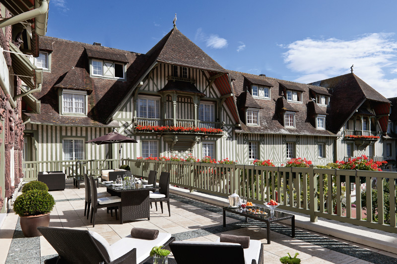 L'hôtel Normandy à Deauville