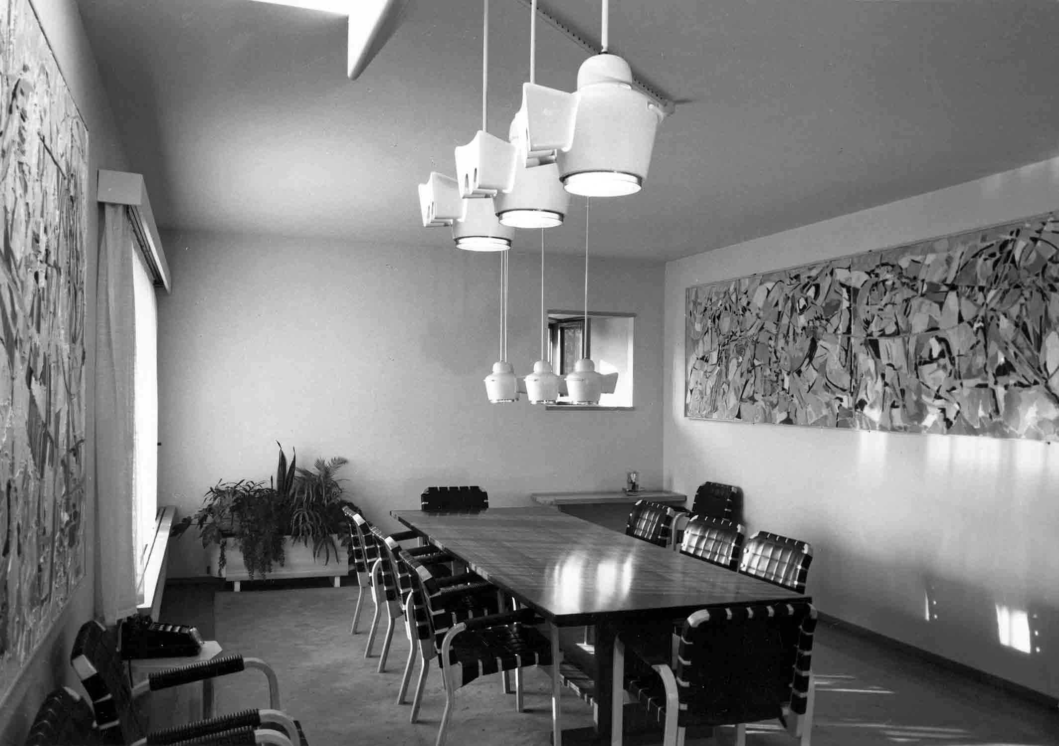 Maison Louis Carré, salle à manger ©Alvar Aalto Museum, photo Heikki Havas