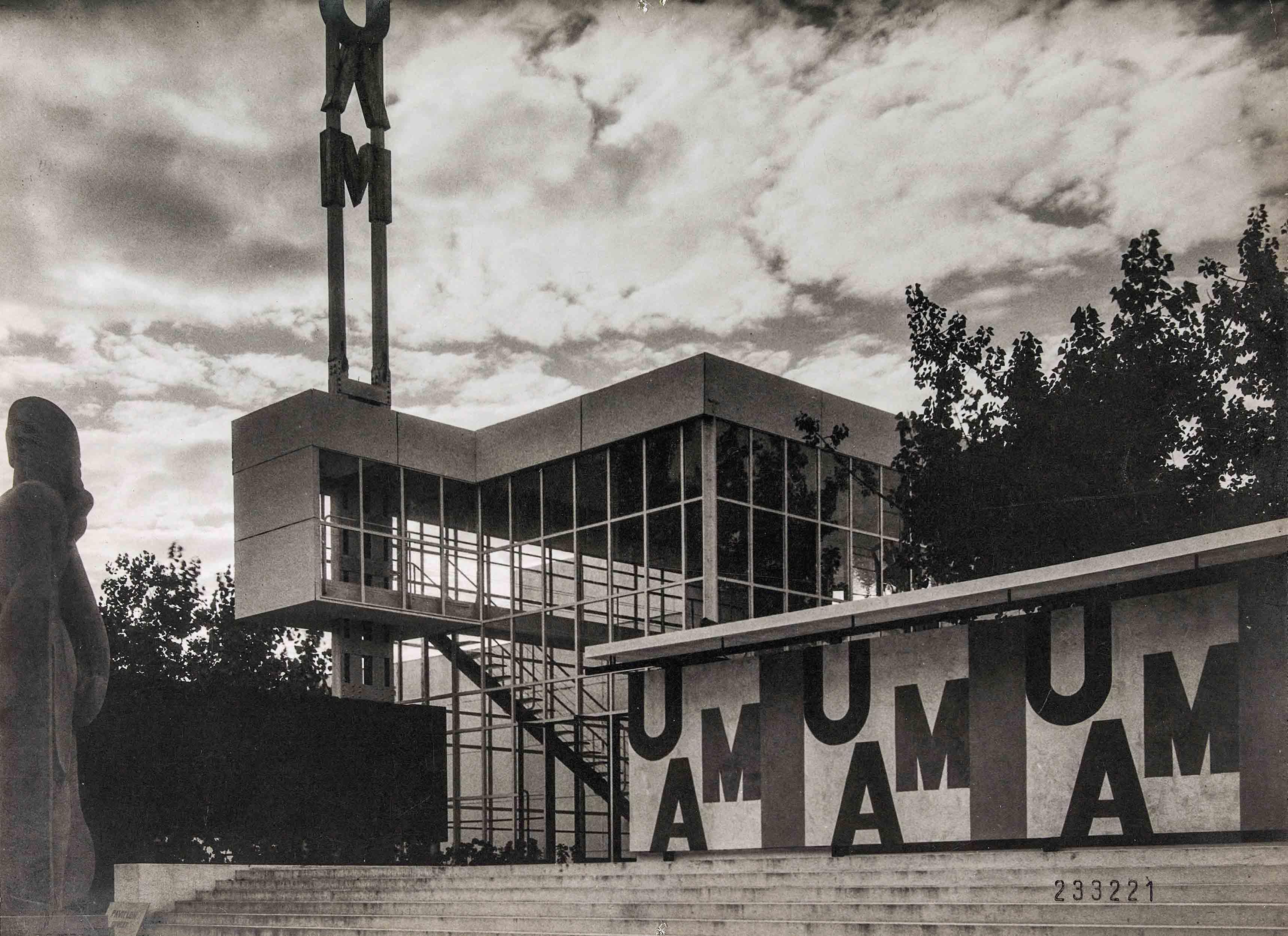 Geaorges-Henri Pingusson, Frantz-Philippe Jourdain, André Louis, Pavillon de l'U.A.M, Exposition internationale, 1937